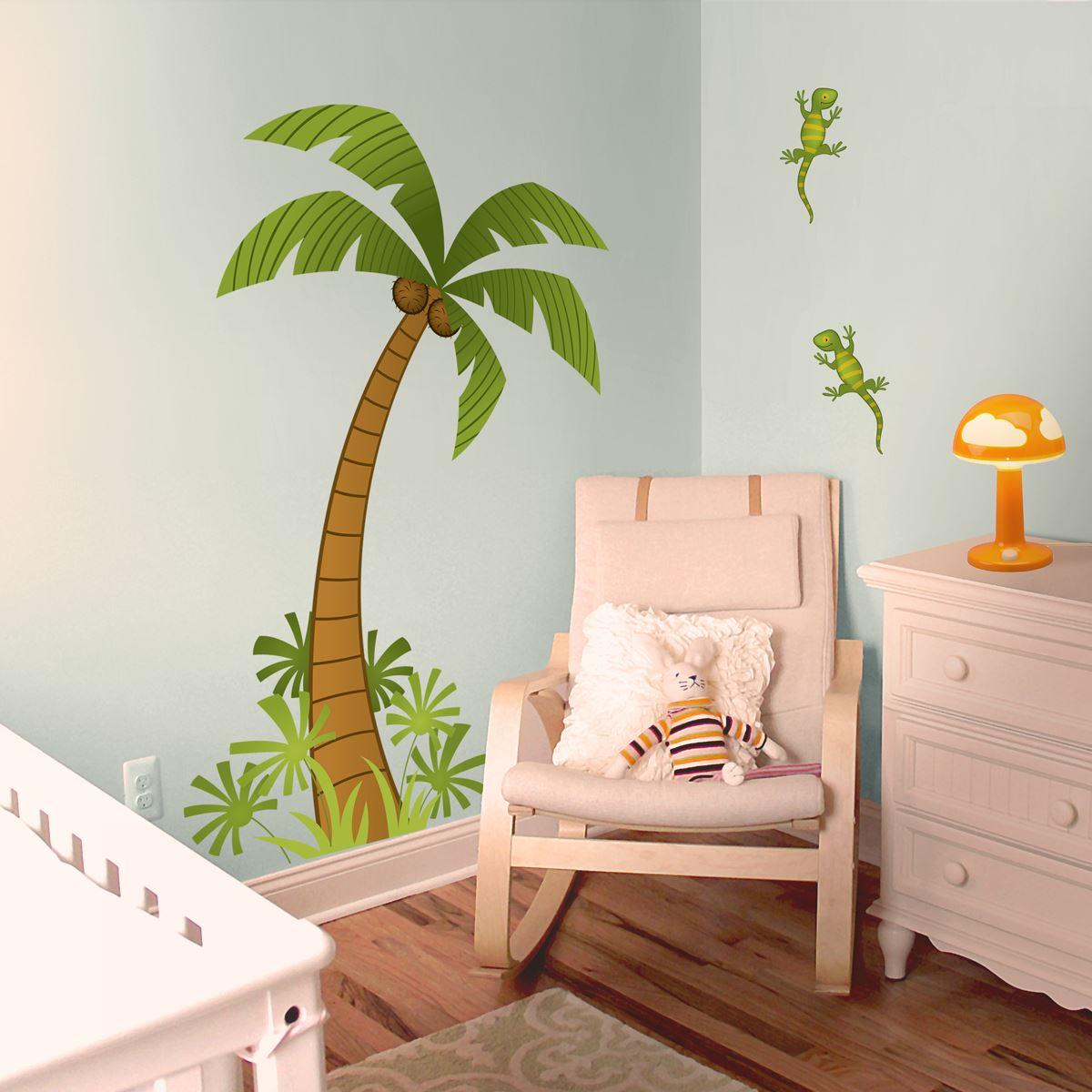Adesivi murali palma leostickers for Planner cameretta